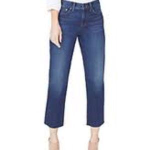 NYDJ Jenna Straight Ankle Raw Hem Jean Size 0